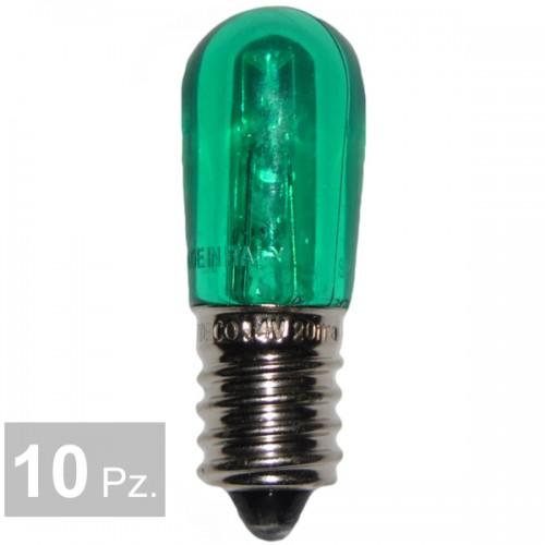 Lampade verde - conf. 10 pz