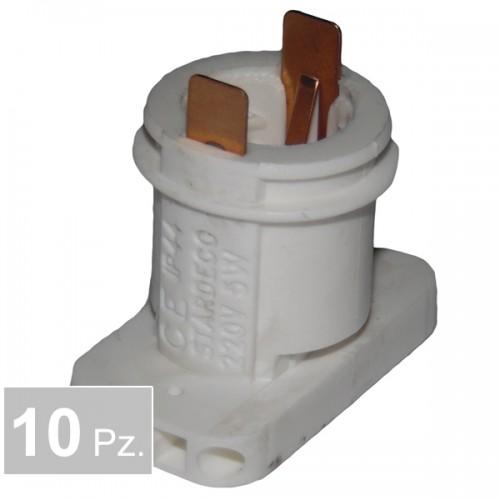 Portalampade P72 2 fori - conf. 10 pz
