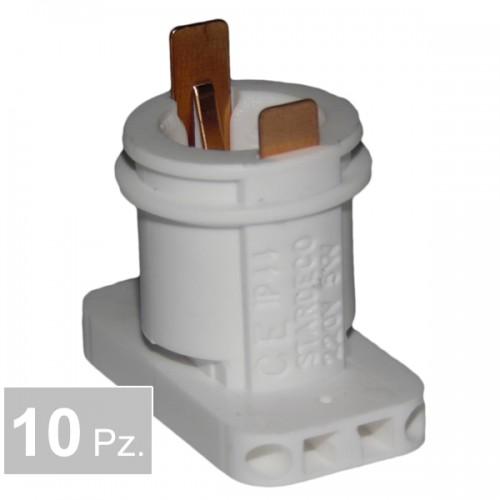 Portalampade P74 4 fori - conf. 10 pz