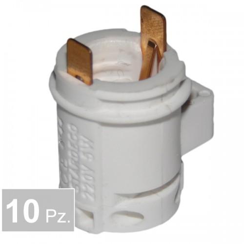 Portalampade P67 2 fori - conf. 10 pz