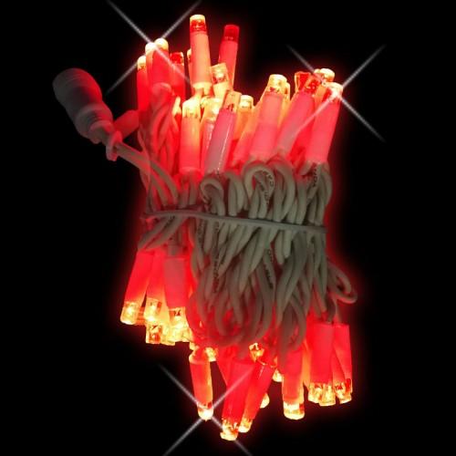 Stringa rosso con flash 10mt - conf. 1 pz