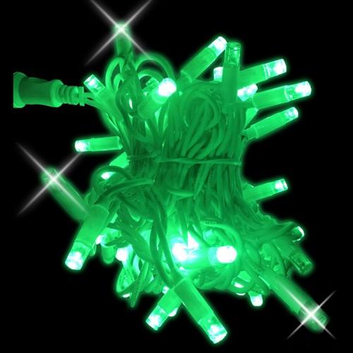 Stringa verde con flash 10mt - conf. 1 pz